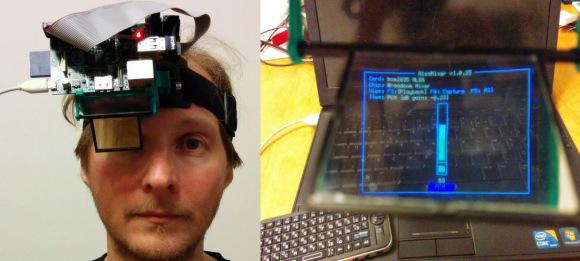 Projeto com Raspberry Pi em um Google Glass Homemade