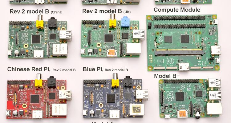Todos os modelos de Raspberry Pi